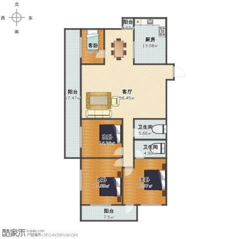 聚祥广场4室1厅1卫2厨176.07㎡户型图