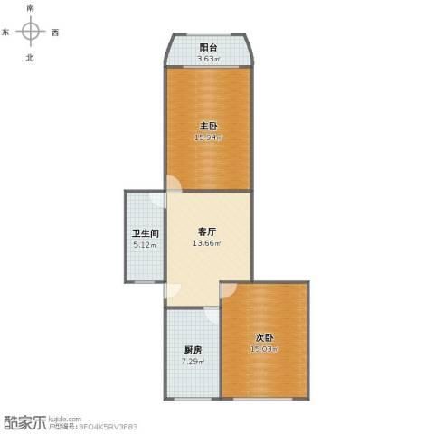 龙华西路81弄小区2室1厅1卫1厨67.00㎡户型图