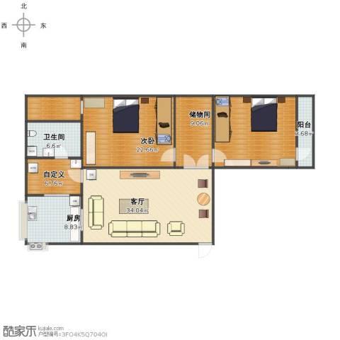 省供销社宿舍1室1厅1卫1厨127.00㎡户型图