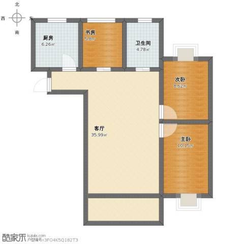 中建公元壹号3室1厅1卫1厨87.00㎡户型图