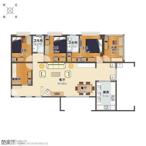 惠泽园4室2厅1卫2厨119.00㎡户型图
