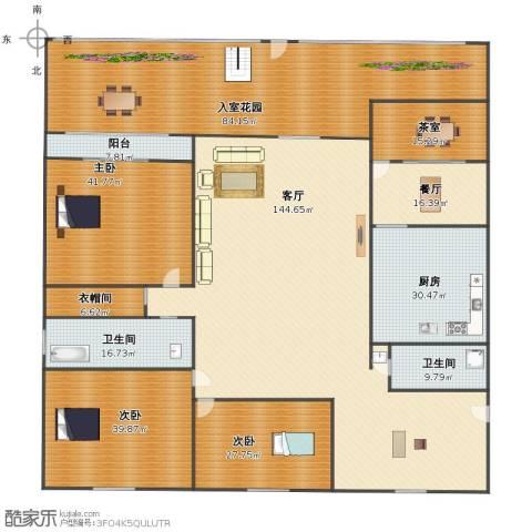 莱茵半岛3室2厅1卫2厨465.00㎡户型图
