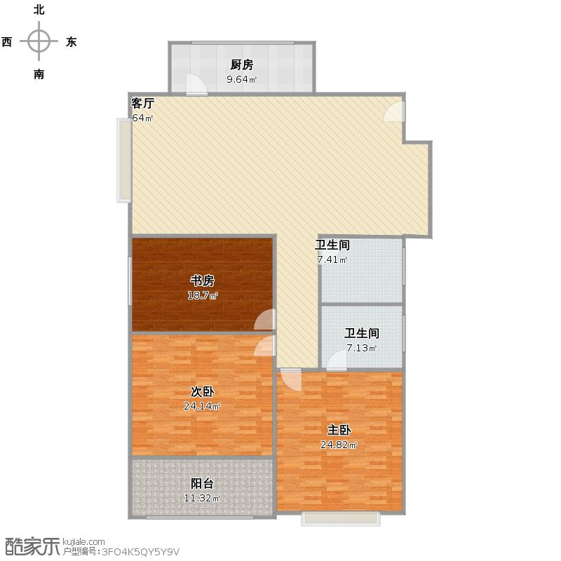 嘉天国际3室D户型