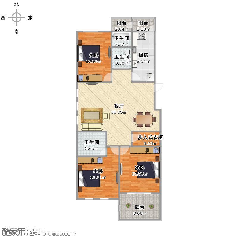 黄浦区蒙自路598弄8号102室海上梦苑户型图