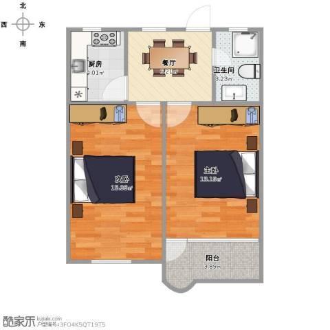 平南三村2室1厅1卫1厨50.00㎡户型图