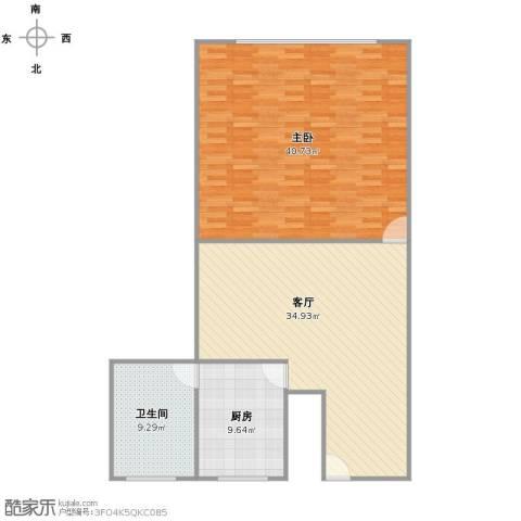 浙江中路419号公房1室1厅1卫1厨99.00㎡户型图