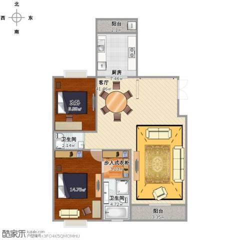 远雄徐汇园1室1厅1卫2厨96.00㎡户型图