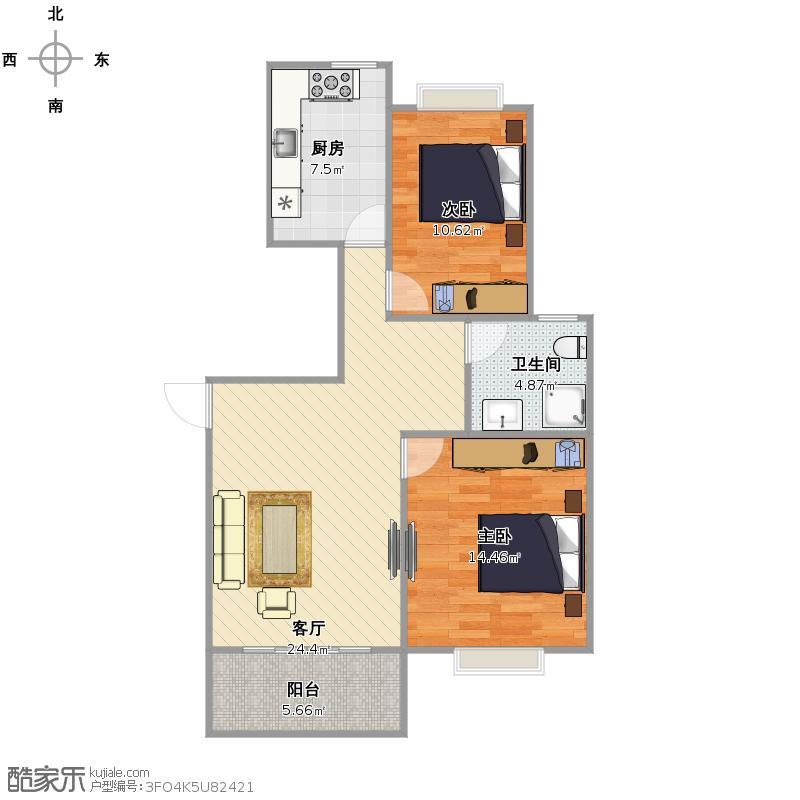 乾和园   上海宝山区南大路158弄 61号901室户型图