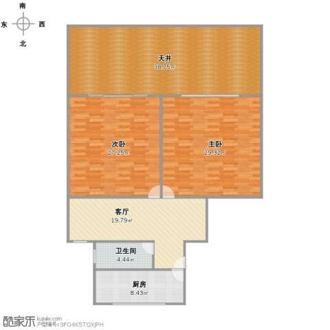 龙柏四村2室1厅1卫1厨135.00㎡户型图