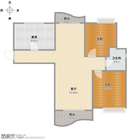棕榈滩海景城2室1厅1卫1厨78.00㎡户型图
