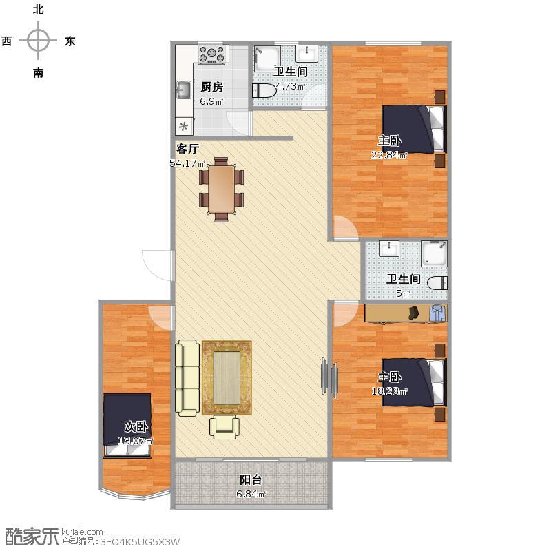 兰馨楼  上海长宁区延安西路3295弄7号201室户型图