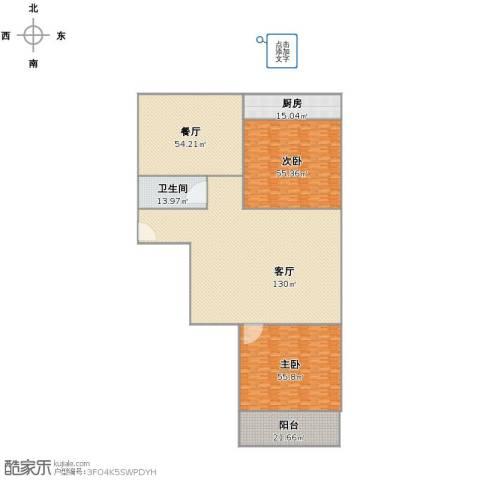南全福小区2室2厅1卫1厨358.00㎡户型图