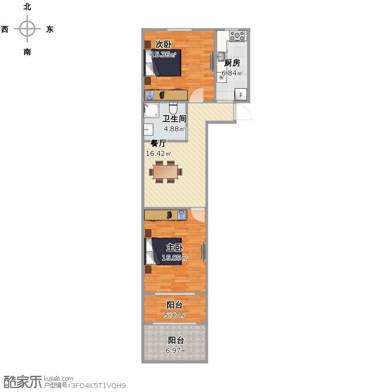 双百花苑   上海杨浦区民星路330弄10号103室户型图