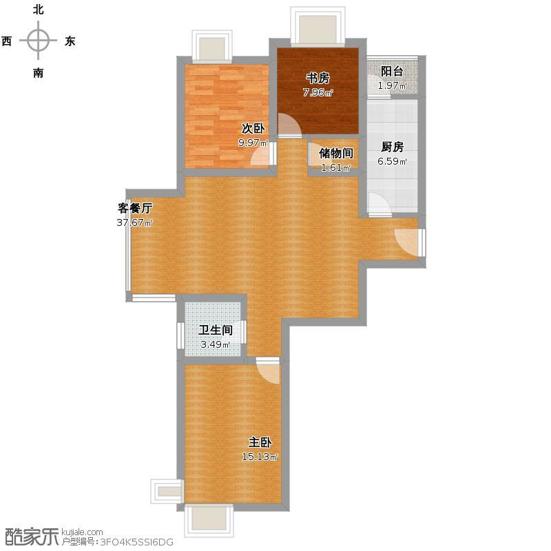 新世界阳光花园19楼120户型图
