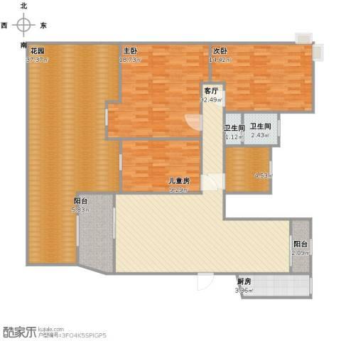 茗阳天下3室1厅1卫2厨141.00㎡户型图