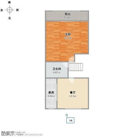 润康村1室1厅1卫1厨55.00㎡户型图