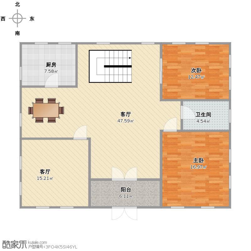 3×2,可大可小,中楼梯