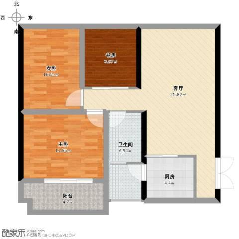 罗马商业广场3室1厅1卫1厨82.00㎡户型图