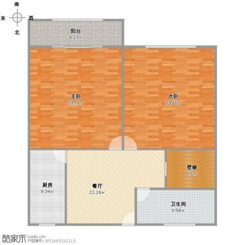 新村路349弄小区2室1厅1卫1厨130.00㎡户型图