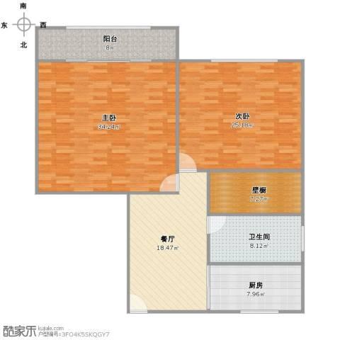 浦东南路4401弄小区2室1厅1卫1厨116.00㎡户型图