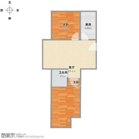 北京城建・福润四季2室1厅1卫1厨53.00㎡户型图