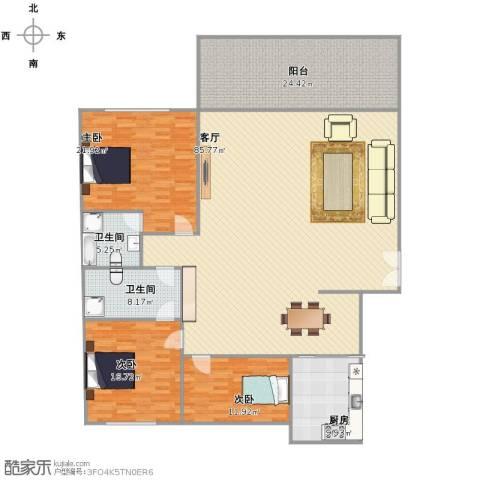融景居(科技大厦)3室1厅1卫2厨193.00㎡户型图