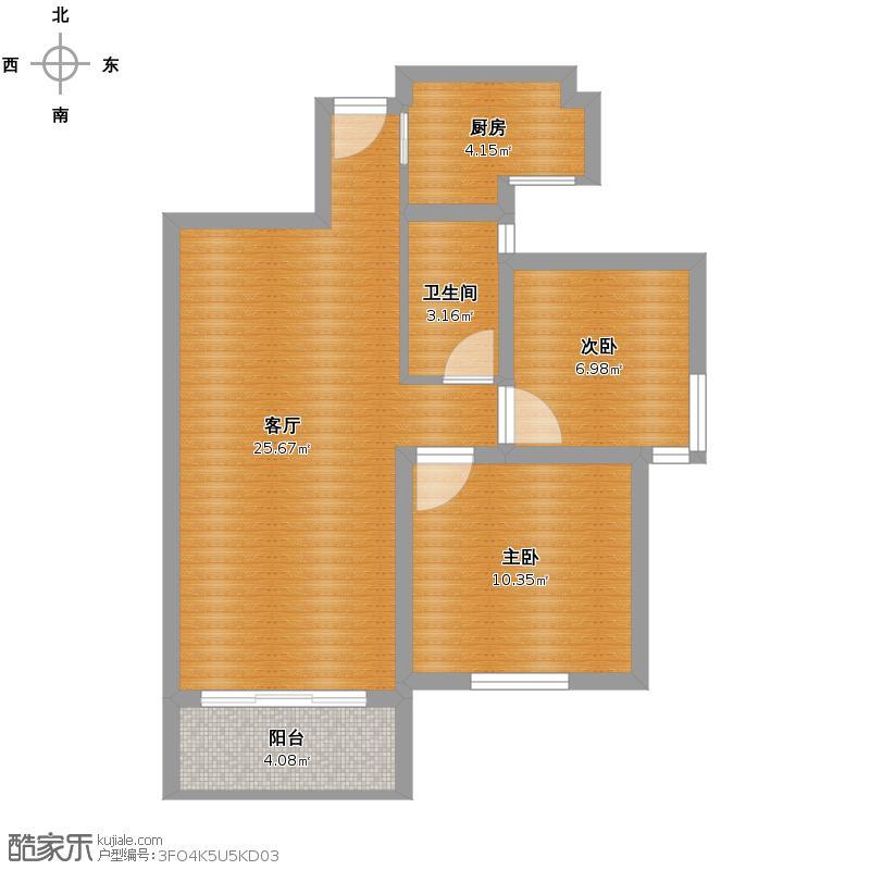 润恒第一城76m两室两厅