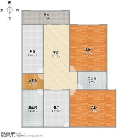 远中风华园2室2厅1卫2厨186.00㎡户型图