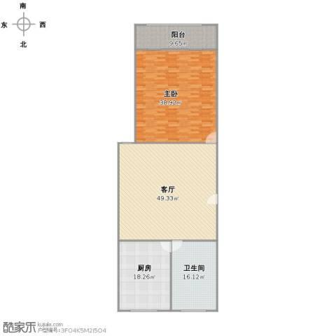 东陆新村九街坊1室1厅1卫1厨138.00㎡户型图