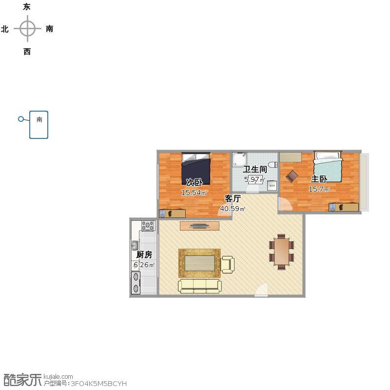方豪花园3楼4单元88平米