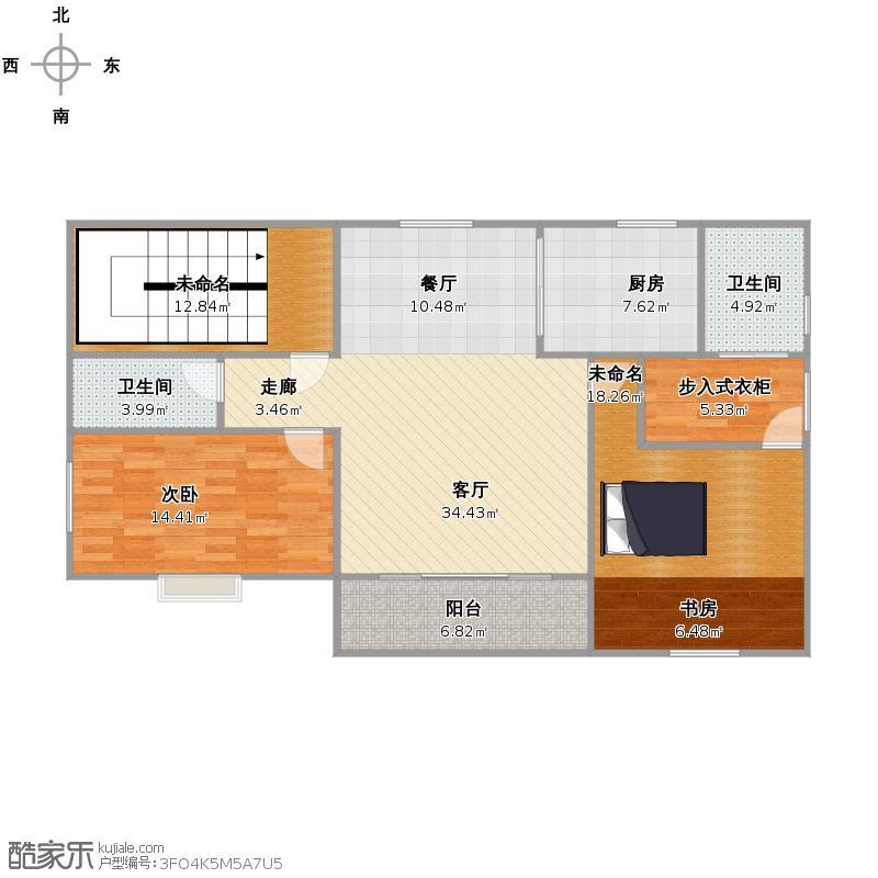 2、3楼设计图(书房&衣帽间)