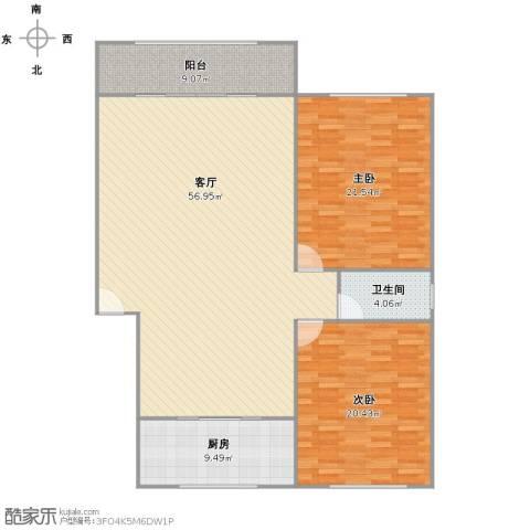 万兆家园2室1厅1卫1厨127.00㎡户型图