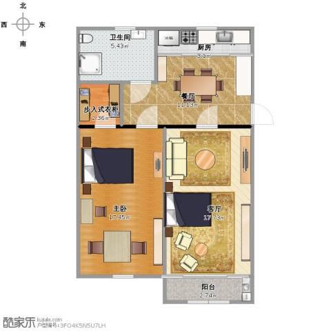 共和新路4446号1室2厅1卫1厨65.00㎡户型图