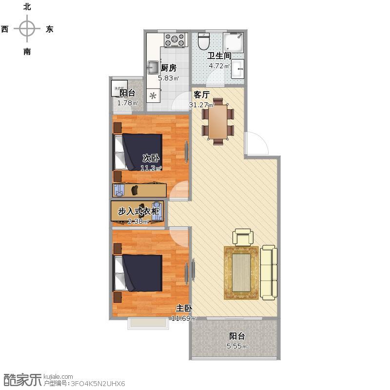 新梅公寓  上海闵行区报春路485弄 11号302室户型图