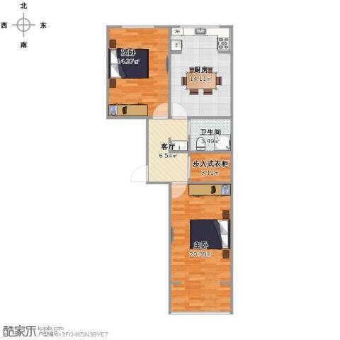 家电大楼2室1厅1卫1厨67.00㎡户型图