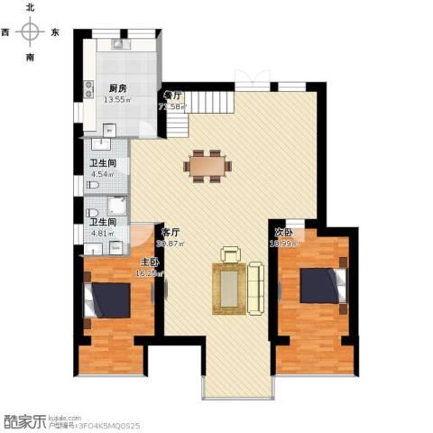 跃界2室1厅2卫1厨147.00㎡户型图