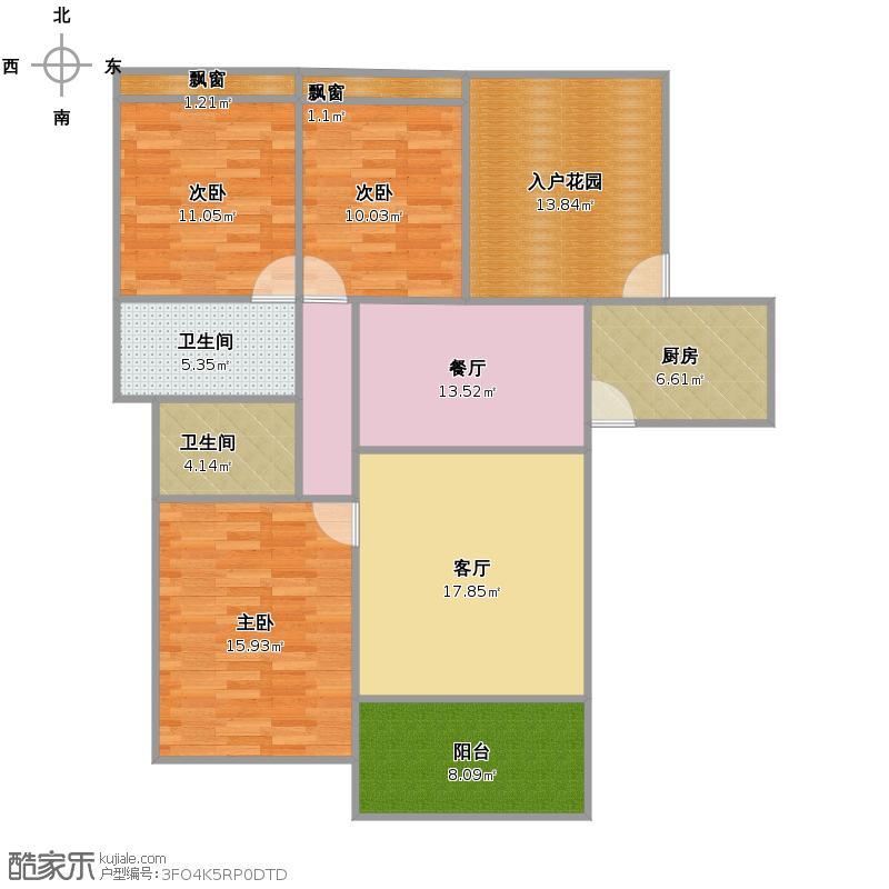 金地国际城B区43号楼户型图