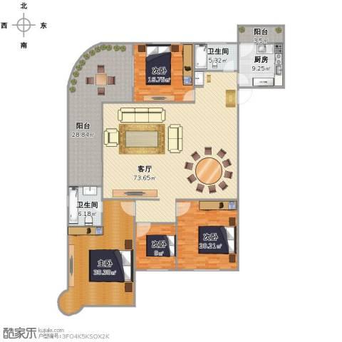 假日香港广场4室1厅2卫1厨215.00㎡户型图