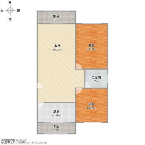 新明星花园二期2室1厅1卫1厨140.00㎡户型图