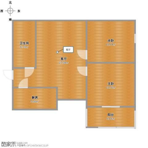 金海湾2室1厅1卫1厨78.00㎡户型图