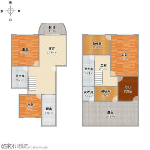 盛达家园4室1厅2卫1厨144.00㎡户型图