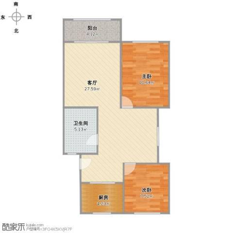 共康六村2室1厅1卫1厨63.00㎡户型图