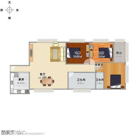 莲花广场2室1厅2卫1厨111.00㎡户型图