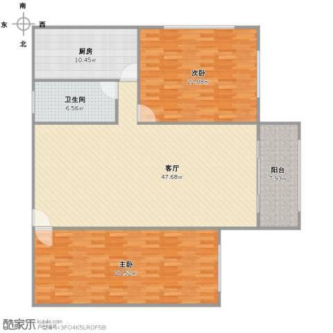 东晖花苑2室1厅1卫1厨129.00㎡户型图