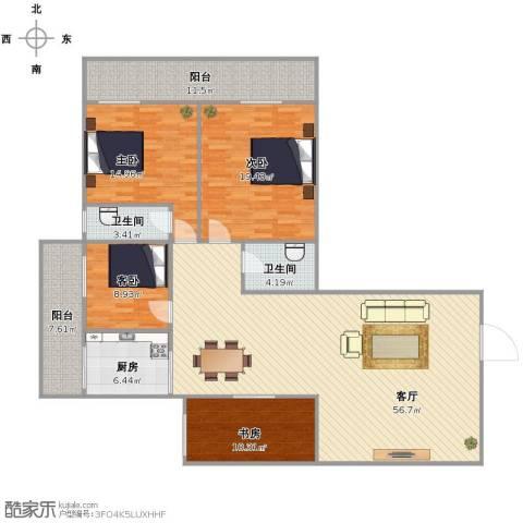 聚祥广场4室1厅2卫1厨153.06㎡户型图