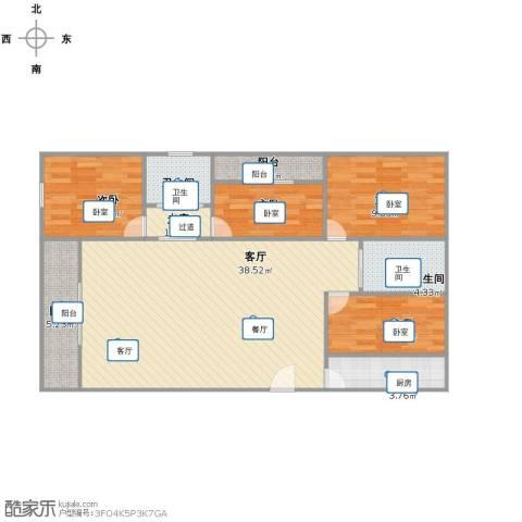 国豪水岸城4室1厅2卫1厨98.00㎡户型图