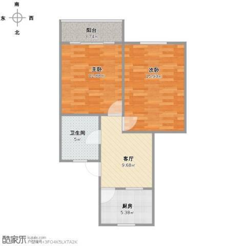 紫藤一村2室1厅1卫1厨57.00㎡户型图