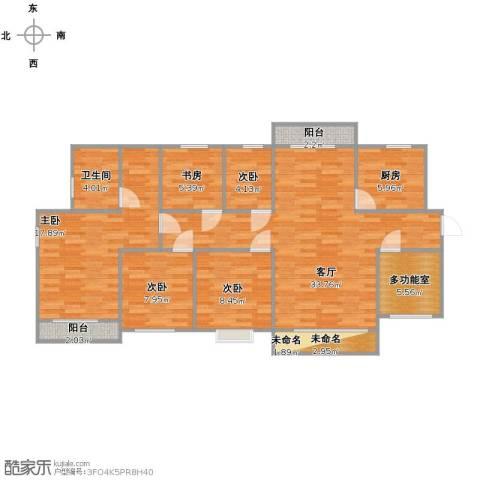 三亚同心家园5室1厅1卫1厨109.00㎡户型图