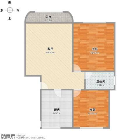 成亿宝盛家苑2室1厅1卫1厨75.00㎡户型图