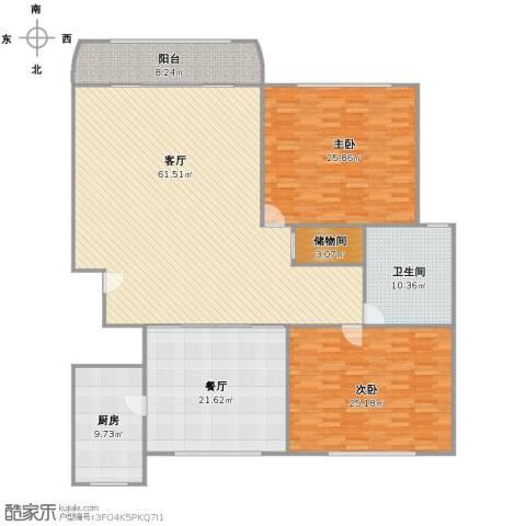 新天地荻泾花园2室2厅1卫1厨175.00㎡户型图